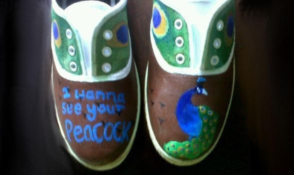 Katy Perry Peacock Shoes by EchoCat39