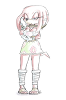 Feminine Knuckles warrior by Blue-Chica