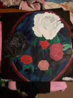 Roses in a frame by Guardian-Of-Art
