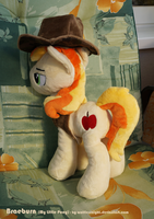 Braeburn Plush Commission II - Back view by Wolflessnight