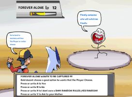 Forever Alone Appears to Gold and Lugia by DarkraDx