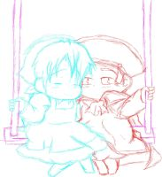 Swing with me HRE sketch by Steampunky-Bunny-Boo