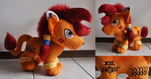 Nanaki aka Red XIII chibi plush by Sethaa