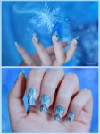 Queen Elsa Inspired Nail Art by Silyah246