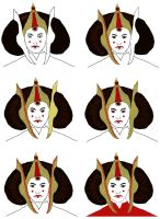Amidala Progression Continued by dazzleflash