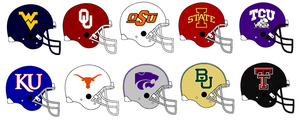 Big 12 Helmets 2014 by Chenglor55