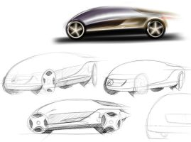 mercedes study e-class by p-sketch