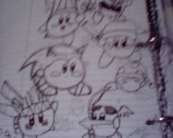 A (blurry) kirby collage by beartic9871