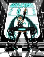 Hatsune Miku: Welcome 2012 by 2ble-ZZ