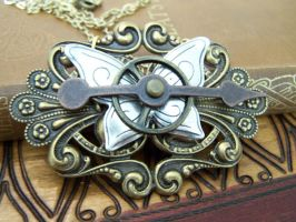 Steampunk Necklace Butterfly 3 by SteamPunkJennie