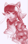 Unfinished Annie League of legends portrait by EveOfNight