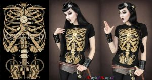 Steampunk Skeleton by Euflonica