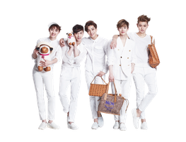 D.O, Lay, Kai, Suho, Tao (EXO) [PNG Render] by ByMadHatter