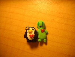 Penguin and Alien by Angelwolf778