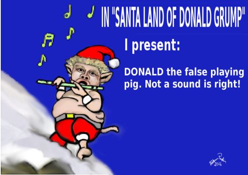 DONALD the false playing PIG 20 by basscania