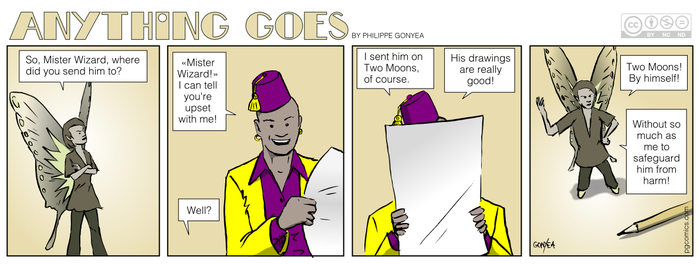 Anything Goes 031 - So where is he? by Quebecman