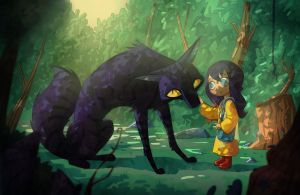 Meeting the tiger-wolf by Arkel88