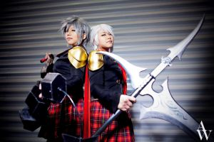 Sice and Seven (Final Fantasy Type-0) by AndyWana