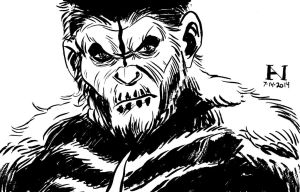 Caesar of the Apes by IanJMiller