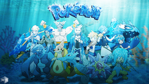 Water type Pokemon trainers (Re-Updated art)
