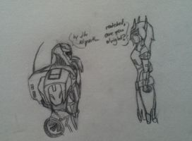 Ratchet's reaction to Lucy's cybertronian form pg2 by Lil-9