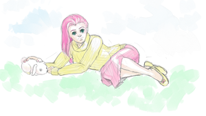 Fluttershy Sketch by Shattered-Earth