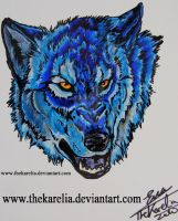 Blue Wolf by TheKarelia