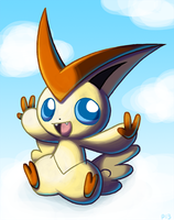 Cloudy Victini by Peeka13