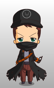 Aiden Pearce (Chibi Form) by VespidOlive