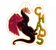 Chaos Badge by CalicoGoldfish