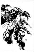 Dave Finch Wolverine Venom by fragcomics