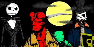 Hellboy, Jack, DJ and Dan by tropy-29