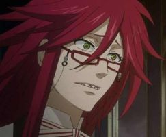 Grell's inocent face!.... by Sugarbunny101