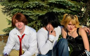 Death Note: Misa, L and Light Cosplay by SovietMentality