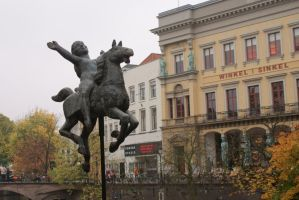 men on horse by esmecelene