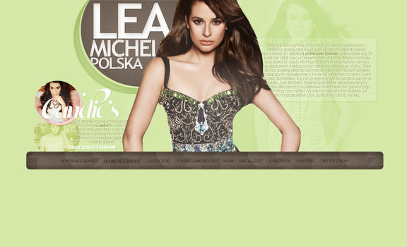 Lea Michele Spring Layout 1.0 by Imfearless