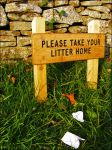 please take your litter home.. by scumdesigns