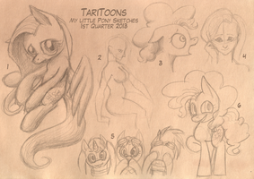 MLP Sketches - 1st Quarter 2013 by TariToons