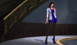 Simple Blue Casual Lara with white Jacket by bstylez