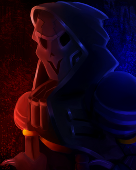 Papyrus as reaper  by LovelyArtist1234