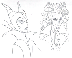 Fausto and Maleficent by DemonCartoonist