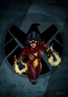 Spider Woman by GeekingOutArt