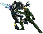 Halo 2: Master Chief Vs. Elite by Art-Minion-Andrew0