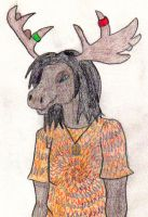Hippie Moose by jacquesgalvin