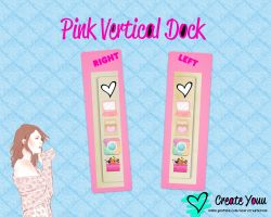 Pink Vertical Dock by CreateYouu