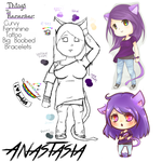 OC Ref Sheet for Natasha by Tollador