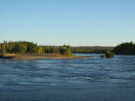 Evening over river Limay by mirator
