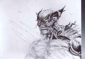 Wolverine after Explosion unfinished by Joe-Style
