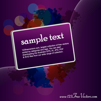 Purple Vector Background with Banner by 123freevectors