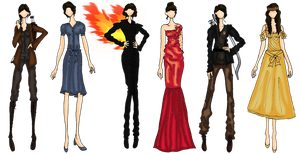 Hunger Games-Katniss Outfits-Movie Version by Blossom-Storm
